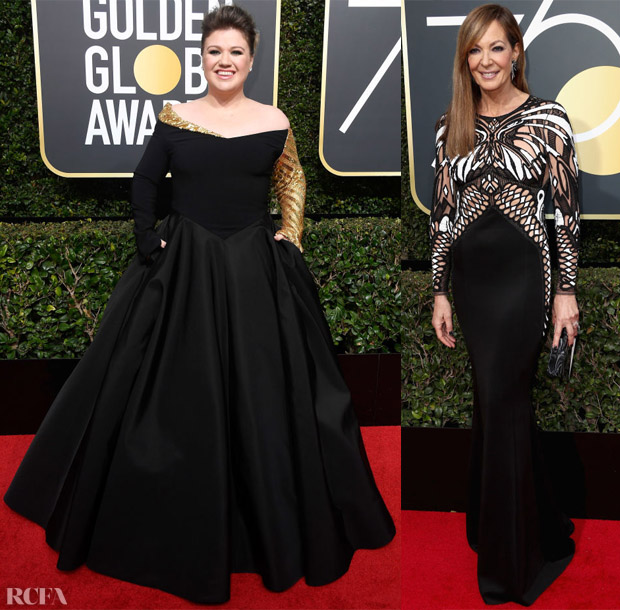 ... the shade of the night at the 2018 Golden Globe Awards on Sunday  (January 7) with celebrities putting their own interpretations on the dress  code. d93261cba