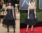 Alessandra Mastronardi  In Chanel - 2018 Golden Globe Awards