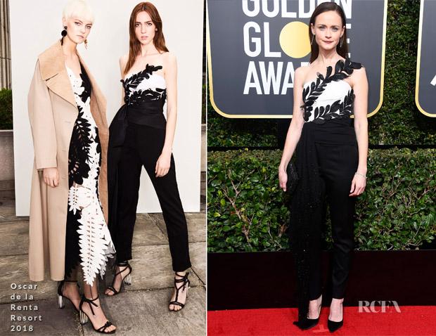 Alexis Bledel In Oscar De La Renta 2018 Golden Globe Awards