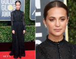 Alicia Vikander In Louis Vuitton - 2018 Golden Globe Awards