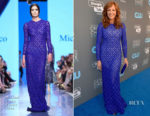 Allison Janney In Michael Cinco - 2018 Critics' Choice Awards