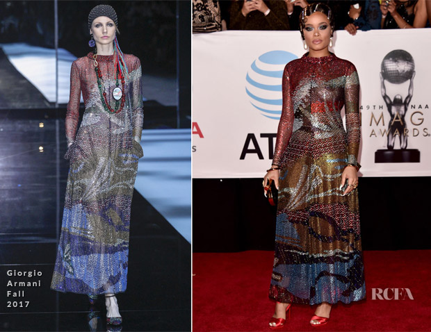 Andra Day In Giorgio Armani - 2018 NAACP Image Awards