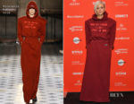 Andrea Riseborough In Vetements - 'Mandy' Sundance Film Festival Premiere
