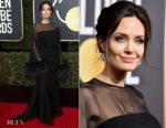 Angelina Jolie In Atelier Versace- 2018 Golden Globe Awards