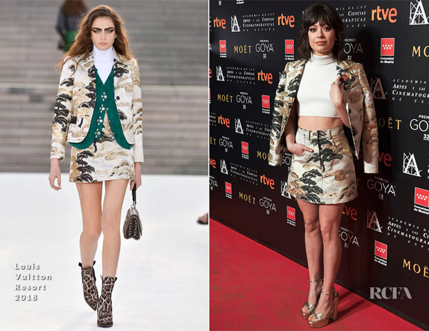 Anna Castillo In Louis Vuitton - Goya Awards Candidates Meeting