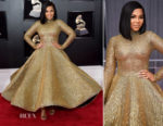 Ashanti In Yas Couture by Elie Madi - 2018 Grammy Awards