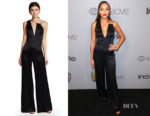 Ashley Madekwe's Cushnie et Ochs Valetta Wide Leg Jumpsuit