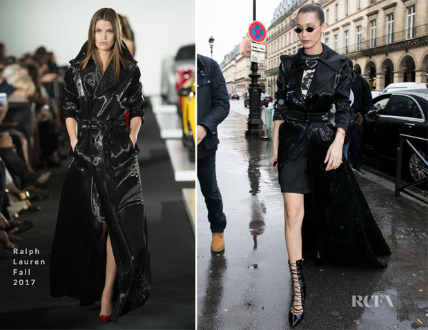 Bella Hadid In Ralph Lauren - Out In Paris