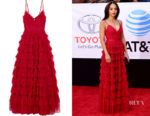 Bianca Lawson's Needle & Thread Marie Tiered Embellished Gown