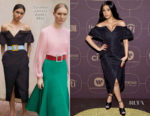 Cardi B In Carolina Herrera - Warner Music Group Hosts Pre-Grammy Celebration