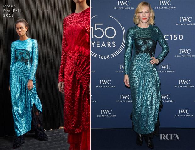 Cate Blanchett In Preen - IWC Schaffhausen (SIHH) Event
