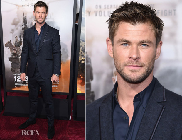 Chris Hemsworth In John Varvatos - '12 Strong' World Premiere