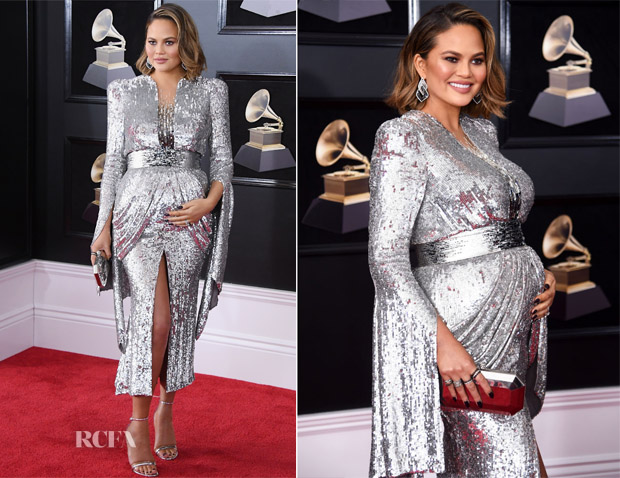 Chrissy Teigen In Yanina Couture