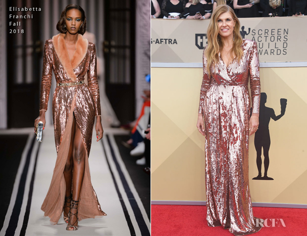 Connie Britton In Elisabetta Franchi - 2018 SAG Awards