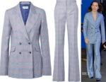 Daisy Ridley's Gabriela Hearst Checked Blazer & Trousers