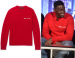 Daniel Kaluuya's Rag & Bone Victor Embroidered Sweater
