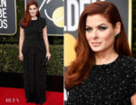 Debra Messing In Christian Siriano - 2018 Golden Globe Awards