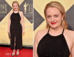 Elisabeth Moss In Adam Selman - 2018 SAG Awards