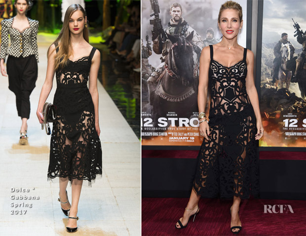 Elsa Pataky In Dolce & Gabbana - '12 Strong' World Premiere