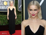 Emilia Clarke In Miu Miu - 2018 Golden Globe Awards