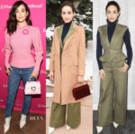 Emmy Rossum In Oscar de la Renta & Brock Collection - 2018 Sundance Film Festival