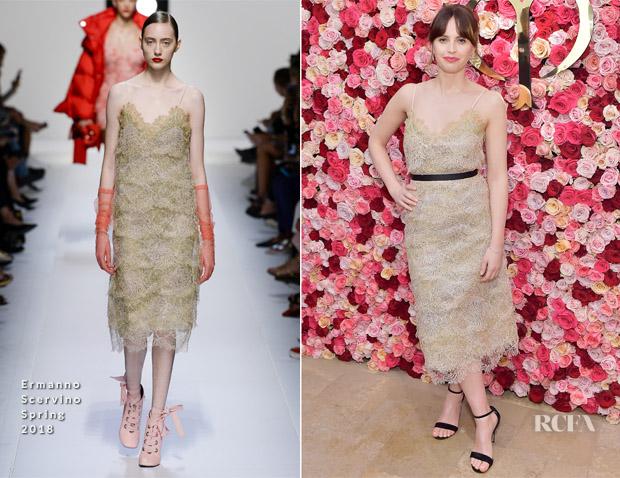 Felicity Jones In Ermanno Scervino – Cle de Peau Beaute Brand Relaunch 36fd43a879e