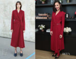 Gal Gadot In Gabriela Hearst - Revlon Brand Ambassador Media Day
