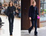 Gigi Hadid In Nina Ricci & Sézane- Out In New York City
