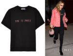 Gigi Hadid's Paradised Embroidered Fleece T-Shirt
