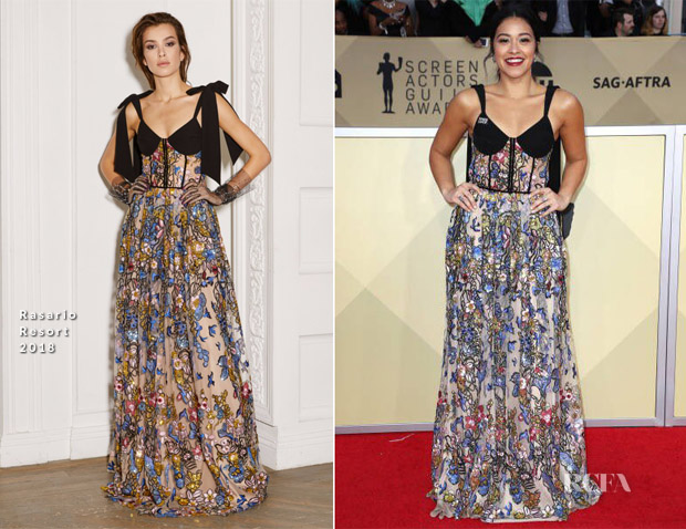 Gina Rodriguez In Rasario - 2018 SAG Awards