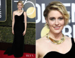 Greta Gerwig In Oscar de la Renta - 2018 Golden Globe Awards
