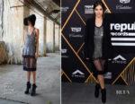 Hailee Steinfeld In Vera Wang & Elie Saab - Pre-Grammy Parties