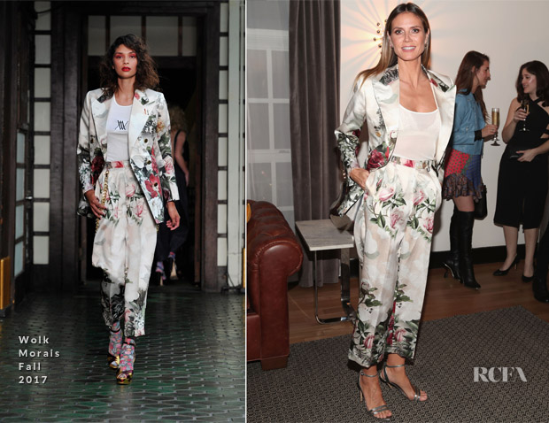Heidi Klum In Wolk Morais - Wolk Morais Collection 6 Fashion Show