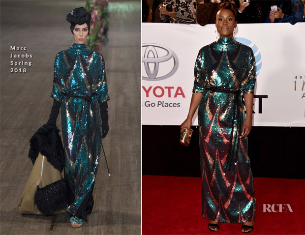 Issa Rae In Marc Jacobs - 2018 NAACP Image Awards