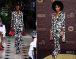 Janelle Monae In Christian Cowan - Warner Music Group Hosts Pre-Grammy Celebration