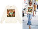 Jennifer Lopez's Gucci Ignasi Monreal Print Sweatshirt