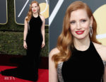 Jessica Chastain In Armani Prive – 2018 Golden Globe Awards