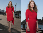 Jessica Chastain In Preen Line - 'Molly's Game' Sydney Photocall