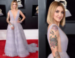 Julia Michaels In Paolo Sebastian Couture - 2018 Grammy Awards