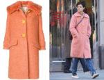 Katie Holmes' Miu Miu Shearling Coat