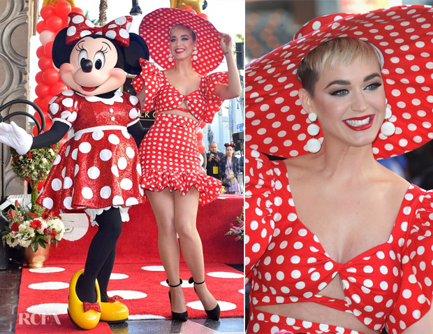 Katy Perry In Christian Siriano - Minnie Mouse Star On The Hollywood Walk Of Fame Unveiling