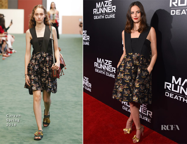 Kaya Scodelario In Carven - 'Maze Runner: The Death Cure' LA Fan Screening