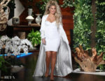 Khloe Kardashian In Cushnie et Ochs &  August Getty Atelier - The Ellen DeGeneres Show