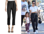 Kourtney Kardashian's Iro Lana High-Waist Straight-Leg Pants