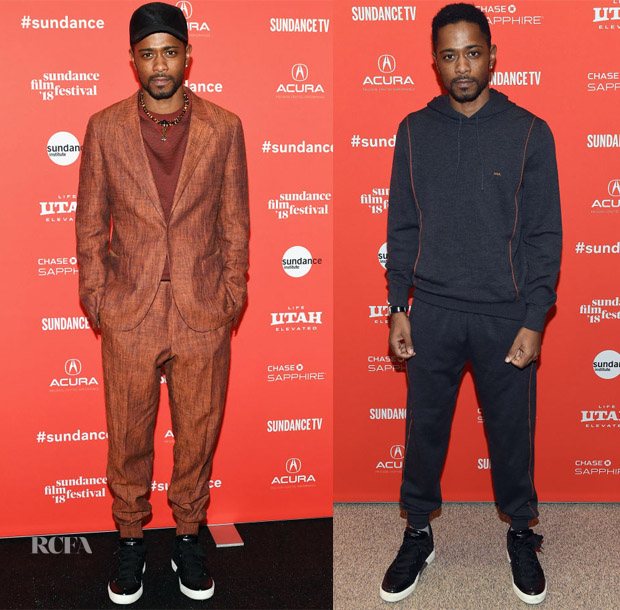 Lakeith Stanfield In Ermenegildo Zegna Couture - 'Sorry To Bother You' and  'Come Sunday' Sundance Film Festival Premiere