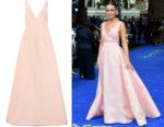Laura Haddock's Emilia Wickstead Clarice Cloqué Gown