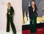 Lea Michele In Elie Saab - Delta Air Lines Celebrates Grammys Weekend