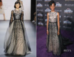 Letitia Wright In Bibhu Mohapatra - 'Black Panther' World Premiere