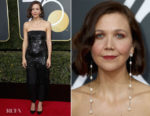 Maggie Gyllenhaal In Monse - 2018 Golden Globe Awards