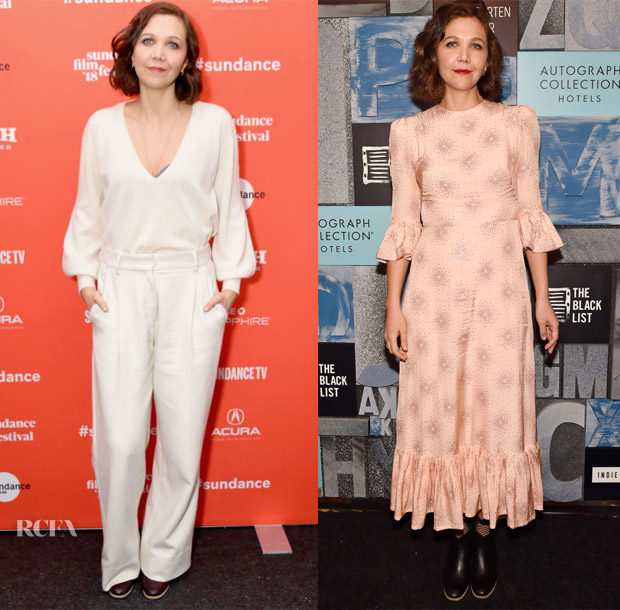 Maggie Gyllenhaal In Ryan Roche & The Vampire's Wife - 'The Kindergarten Teacher' Sundance Film Festival Premiere & Cocktail Party